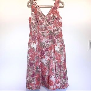 Adrianna Papell Floral Fit & Flare Dress Size 12